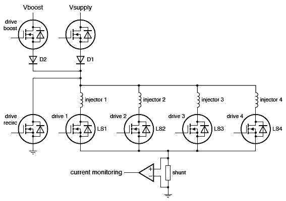 Схема впрыска типового