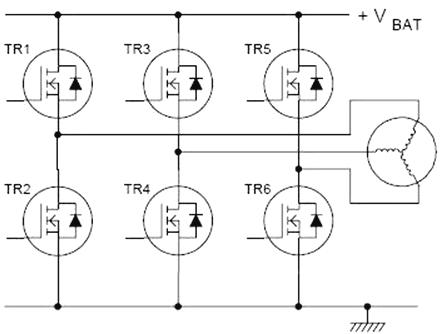 Управление бесколлекторным электромотором с помощью MOSFET транзисторов.