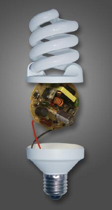 Общий вид миниатюрной люминесцентной лампы