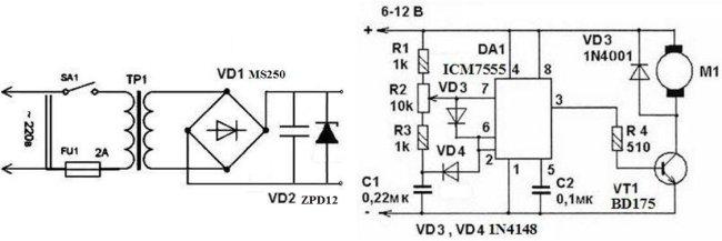 электросхема двигателя постоянного тока - Практическая схемотехника.