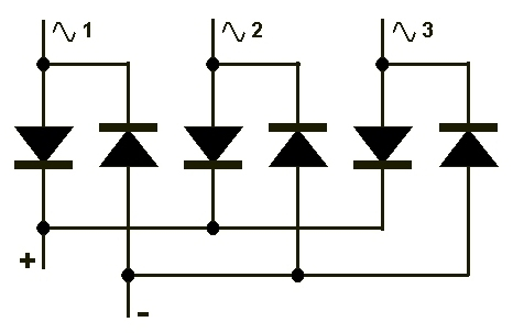Трехфазная схема выпрямителя