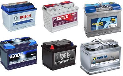 аккумуляторы для легковых автомобилей