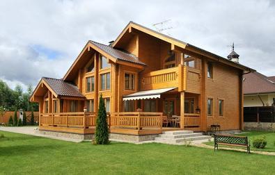 Современные деревянные загородные дома